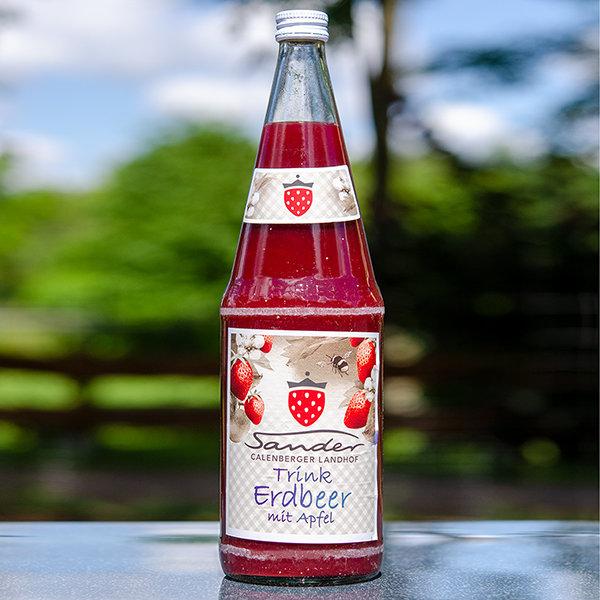 Trink Erdbeer mit Apfel